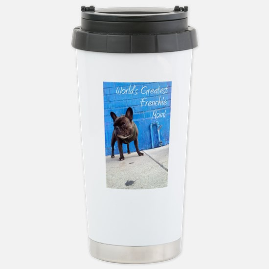 Cute French bulldog christmas Travel Mug