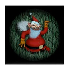 Snappy Claus Tile Coaster
