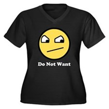 Awesome Do Not Want Women's Plus Size V-Neck Dark