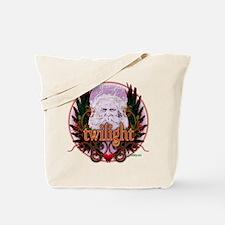 Twilight Santa Winged Crest Wreath Tote Bag