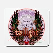 Twilight Santa Winged Crest Wreath Mousepad