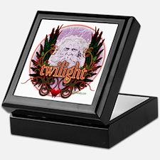 Twilight Santa Winged Crest Wreath Keepsake Box