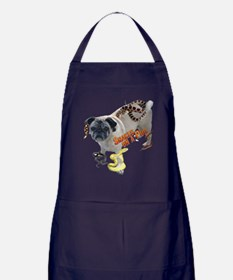 Snakes on a Pug Apron (dark)
