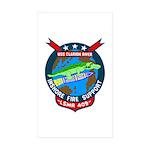 USS Clarion River (LSMR 409) Rectangle Sticker 50