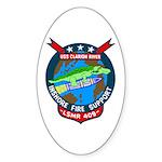 USS Clarion River (LSMR 409) Oval Sticker (50 pk)