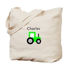 Charles - Lime Green Tractor Tote Bag