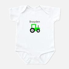 Brayden - Lime Green Tractor Infant Bodysuit