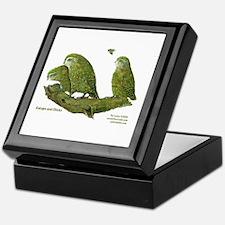 Kakapo and Chicks Keepsake Box
