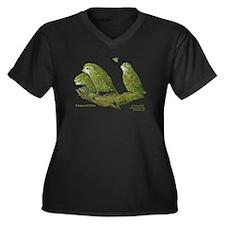 Kakapo and Chicks Women's Plus Size V-Neck Dark T-