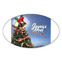 Joyeux Noel Oval Decal