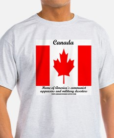 Canada: Home of military dese Ash Grey T-Shirt