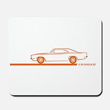1968-70 Charger Orange Car Mousepad