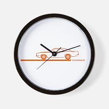 1968-70 Charger Orange Car Wall Clock