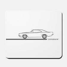 1968-70 Charger Grey Car Mousepad