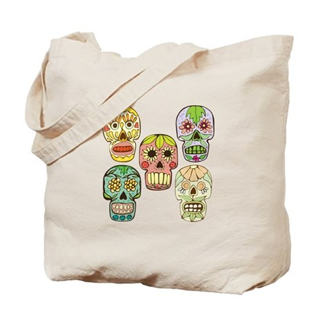 Mexican Skulls Tote Bag