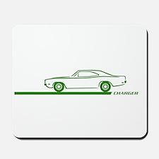 1968-70 Charger Green Car Mousepad