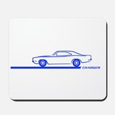 1968-70 Charger Blue Car Mousepad