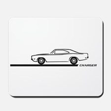 1968-70 Charger Black Car Mousepad