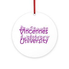 Vincennes University Ornament (Round)