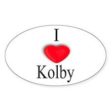 Kolby Oval Stickers
