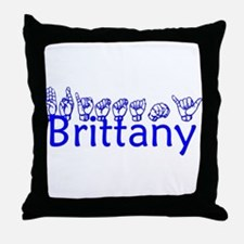 Brittany-bl Throw Pillow