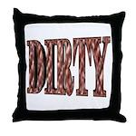 Dirty 3-D Brown Throw Pillow