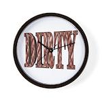 Dirty 3-D Brown Wall Clock