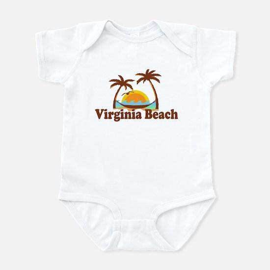 Virginia Beach VA - Sun and Palm Trees Design Infa