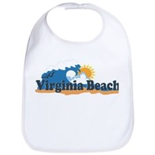 Virginia Beach VA - Sun and Waves Design Bib