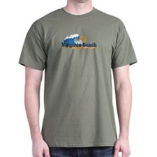 Virginia Beach VA - Sun and Waves Design T-Shirt