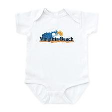 Virginia Beach VA - Sun and Waves Design Infant Bo