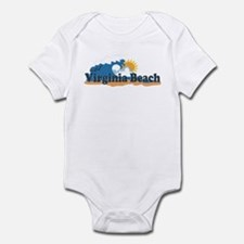Virginia Beach VA - Sun and Waves Design Infant Bo