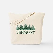VT Winter Evergreens Tote Bag