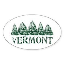 VT Winter Evergreens Decal
