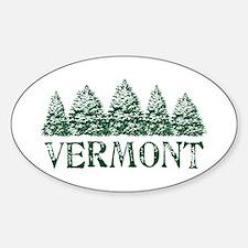 VT Winter Evergreens Decal