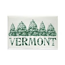VT Winter Evergreens Rectangle Magnet