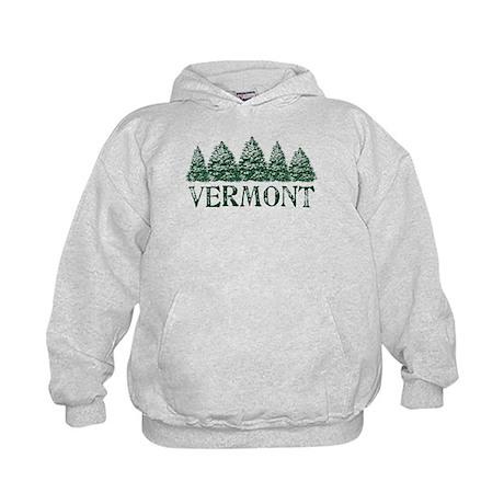 VT Winter Evergreens Kids Hoodie
