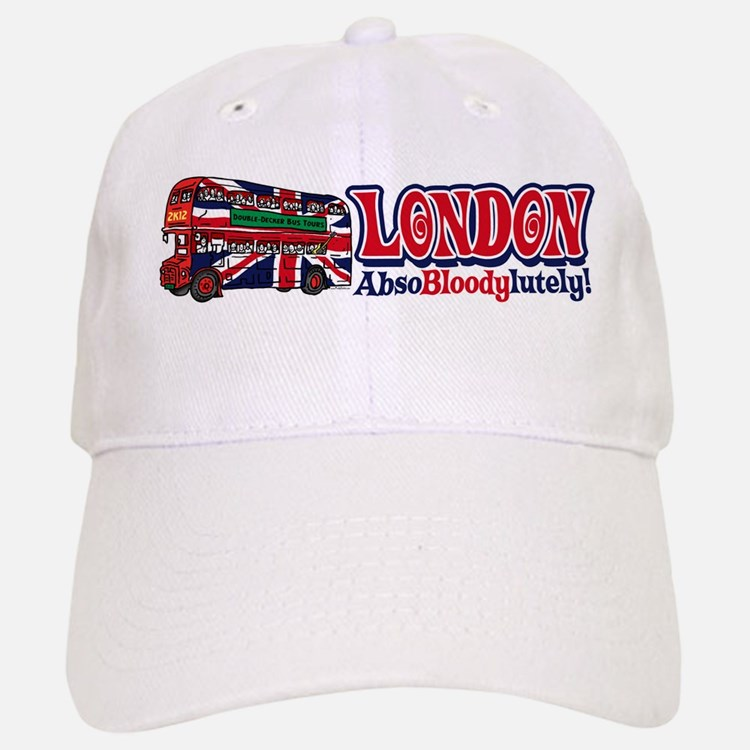 London Double-Decker Flag Baseball Baseball Cap