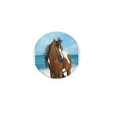 Beach Pony Mini Button (10 pack)