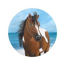 """Beach Pony 3.5"""" Button"""