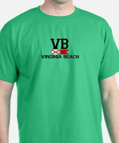 Virginia Beach VA - Nautical Flags Design T-Shirt