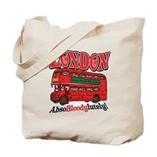 London Double-Decker Red Tote Bag