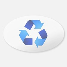 Recycling Symbol Oval Decal