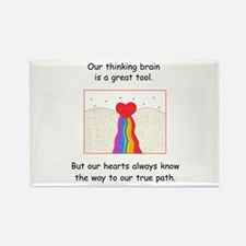 Rainbow Heart Gifts Rectangle Magnet