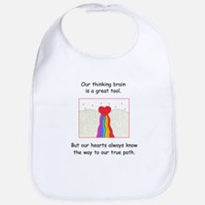 Rainbow Heart Gifts Bib