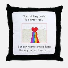 Rainbow Heart Gifts Throw Pillow