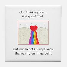 Rainbow Heart Gifts Tile Coaster
