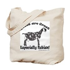 Goat Are Great Tote Bag-Nubian