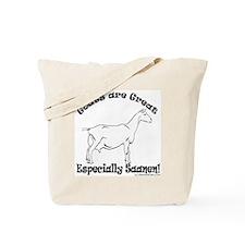 Goat are Great Tote Bag - Saanen Design