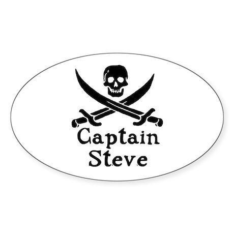 Captain Steve Sticker (Oval 10 pk)